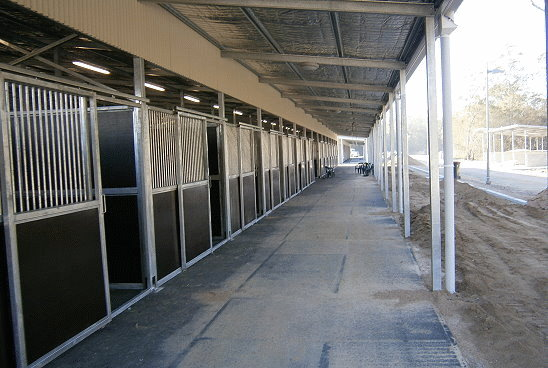 Queensland Equestrian Centre Stables - Near Completion
